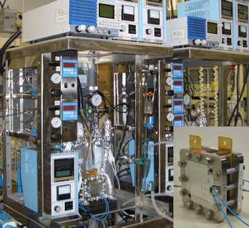 水素PEFC 実験装置と JARI セル